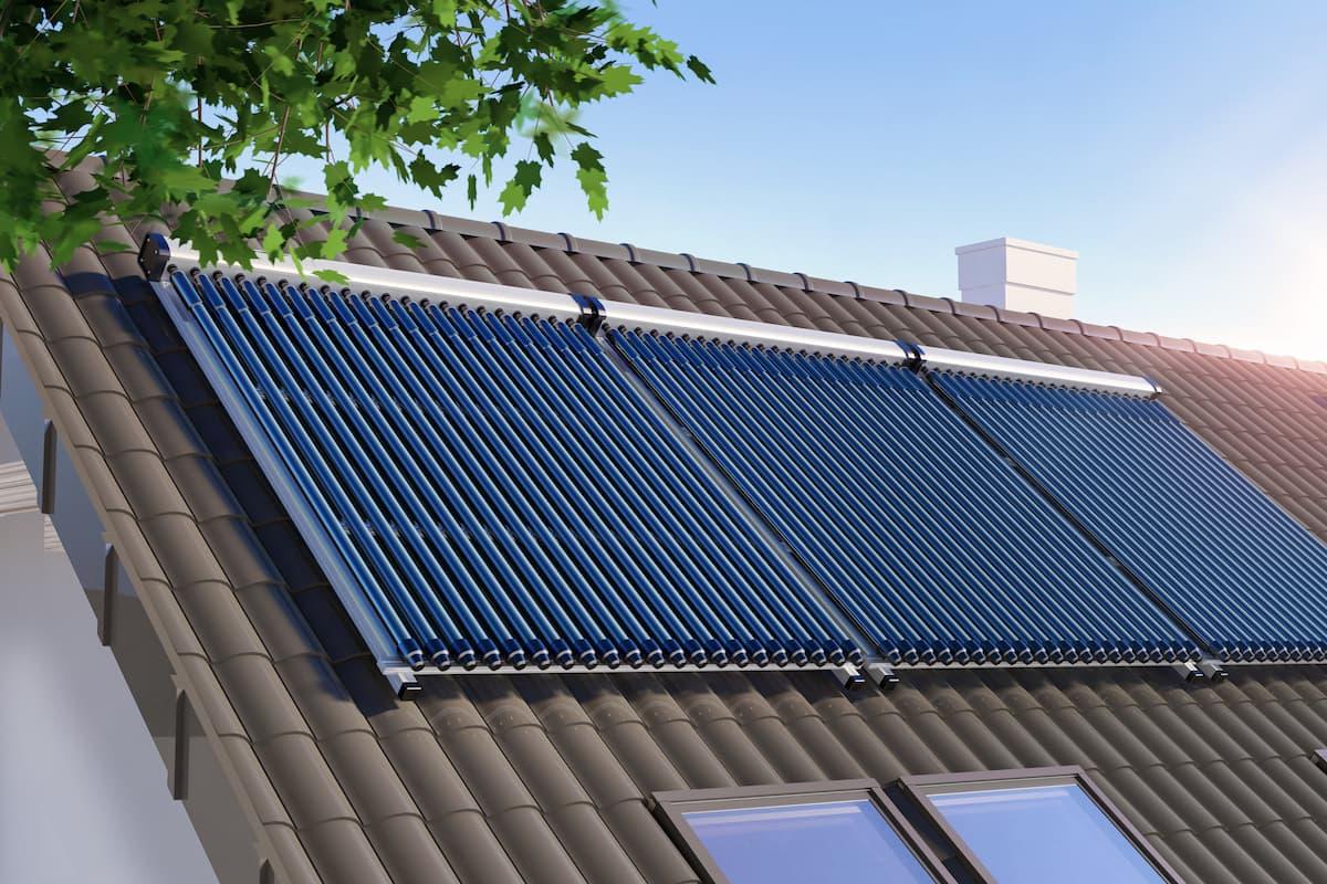calefacción y placas solares
